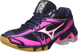 Mizuno Wave Rider 19, Chaussures de Running Compétition Fille - Violet - Fuchsia Purple/Silver/Royal Purple, 34 EU