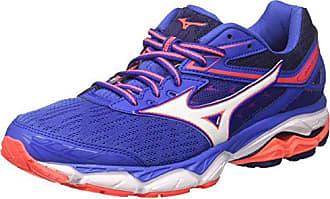 Scarpa Wave Ultima Wos - Chaussures de Running - Femme - Multicolore (White/fierycoral/Liberty) - 37 EU (4.5 UK)Mizuno