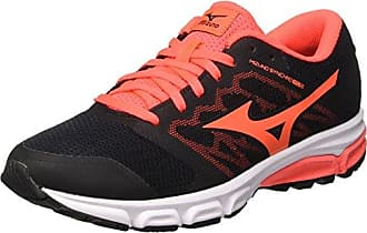 Mizuno Wave Prodigy Wos, Chaussures de Running Femme, Multicolore (Black/Fierycoral/Magnet 55), 41 EU