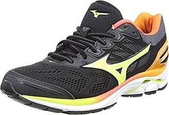 Wave Inspire 14 Wos, Zapatillas de Running para Mujer, Multicolor (Clover/Blueatoll/Safetyyellow 32), 38.5 EU Mizuno