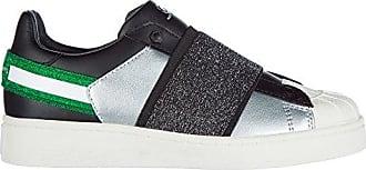 Moa Master of Arts Damen Leder Slip On Slipper Sneakers Schwarz EU 36 M600 M10Q