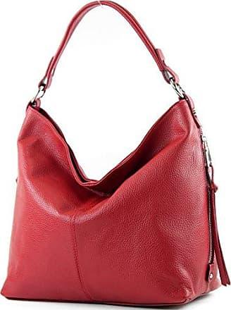Rote Schultertasche aus Leder (Onesize) Manfield