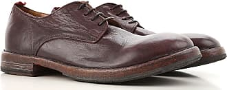 Lace Up Shoes for Men Oxfords, Derbies and Brogues On Sale, Wine, Leather, 2017, 7 Moma