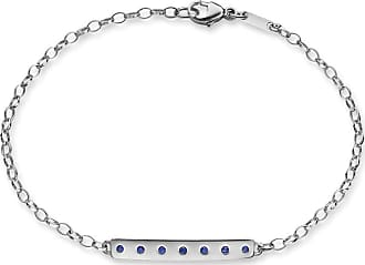 Blue Nile Poesy Dream Bracelet with Sapphires in Sterling Silver (1.2mm)