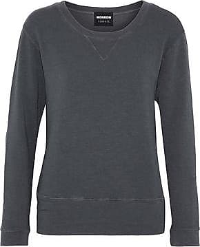 Monrow Monrow Woman Ribbed,knit Terry Sweatshirt Charcoal Size XS