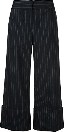 side pinned flared trousers - Blue Monse
