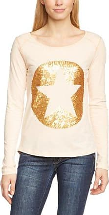 More & More Camiseta con cuello redondo de manga larga para mujer, talla 44, color naranja (light peach)