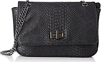 172-2cebag.a, Womens Cross-Body Bag, Noir (Noir/Blanc), 10x27x37 cm (W x H L) Morgan