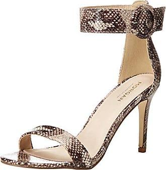 Morgan 181-1sasna.a, Zapatos de Punta Descubierta para Mujer, Beige (Beige Python), 37 EU
