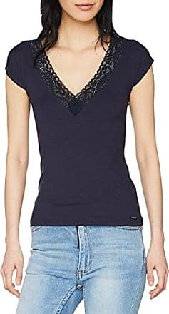 Morgan Drapou.P, Camiseta para Mujer, Azul (Marine), 38 (Talla del Fabricante : Small)