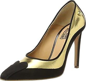 W.Shoe, Escarpins Femme, Multicolore (Gold/Black), 39 EULove Moschino