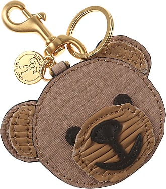 Key Chain for Women, Key Ring On Sale, Camel, Leather, 2017, One size Moschino