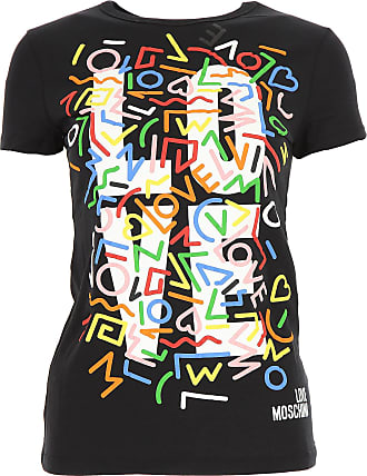T-Shirt for Women On Sale, Black, Cotton, 2017, 14 8 Moschino