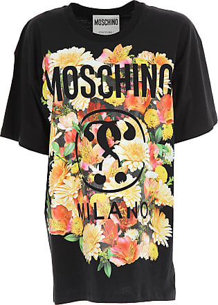 T-Shirt for Women On Sale, Black, Cotton, 2017, 8 Moschino