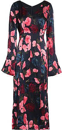 Mother Of Pearl Woman Ruffle-trimmed Floral-print Silk-satin Mini Dress Multicolor Size 8 Mother Of Pearl