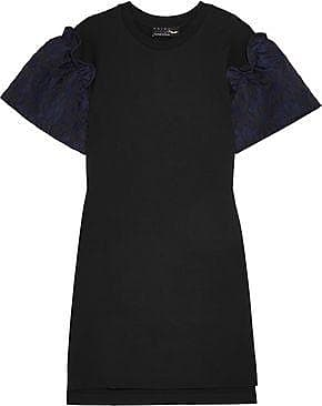 Mother Of Pearl Woman Rena Jacquard-trimmed Cotton-jersey Mini Dress Black Size S Mother Of Pearl