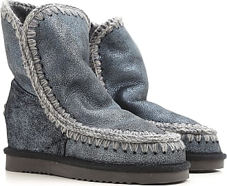Boots for Women, Booties On Sale, Grey, suede, 2017, EUR 39 - UK 6 - USA 8.5 EUR 40 - UK 7 - USA 9.5 Mou