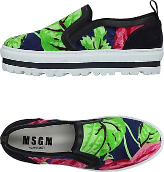 Msgm Woman Twisted Denim Platform Slides Mid Denim Size 37 Msgm