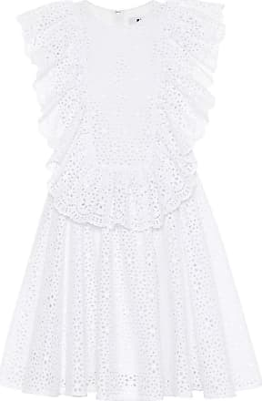 sangallo lace mini dress with ruffled detailing Msgm