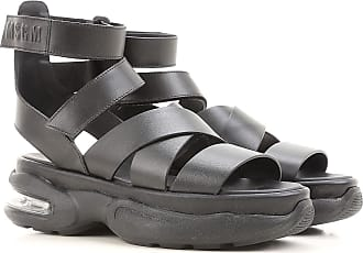 Sandals for Women On Sale in Outlet, Black, Leather, 2017, 5.5 6.5 Msgm