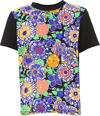 T-Shirt for Women On Sale, Blue, Cotton, 2017, 10 6 8 Msgm
