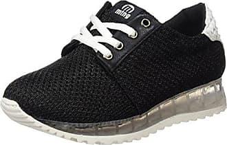 MTNG Selino, Zapatillas Mujer, Negro (Velvet Grabado Negro/Monte Negro), 39 EU