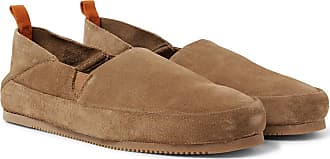 Suede Backless Loafers - BlueMulo