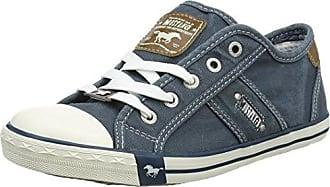 Mustang Damen 1099-401 Slip on Sneaker, Blau (Blau/Grün), 42 EU