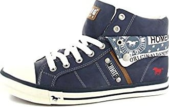 Mustang 4103-301, Herren Sneakers, Blau (800 Dunkelblau), 43 EU