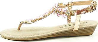 Mustang 1274-802 Schuhe Damen Zehentrenner Sandaletten, Schuhgröße:42;Farbe:Rosa