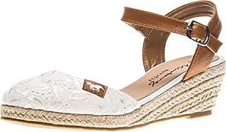 Mustang Damen Keil-Sandalette Blau, Schuhgröße:EUR 39