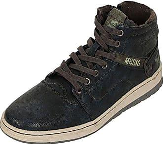 Mustang High Top Sneaker, Herren Hohe Sneakers, Blau (847 Blau-Grün), 44 EU