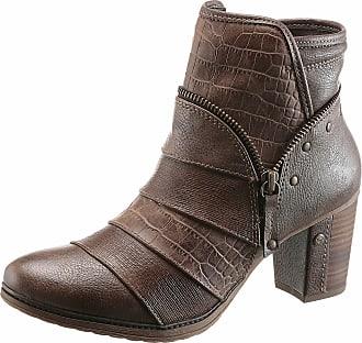 Mustang Shoes Stiefelette, mit Reptilprägung, grau, EURO-Größen, anthrazit