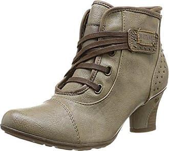 Mustang Schnür-Stiefelette, Damen Kurzschaft Stiefel, Braun (318 taupe), 37 EU