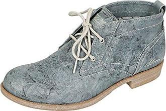 Mustang 1157-554 Schuhe Damen Sommer Stiefeletten Schnür Desert Boots , Schuhgröße:37;Farbe:Grau