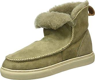 Marc O'Polo Mid Heel Bootie 80114176101300, Botas Plisadas para Mujer, Gris (Taupe 717), 41 EU