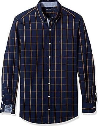 W81943, Camisa Casual para Hombre, Azul (Monaco Blue), Large (Tamaño del Fabricante:L) Nautica