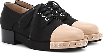 Zapatos Derby de lona con borde de cuero N°21
