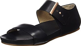 Womens S952 Restored Skin Ebony Lairen Sandals with Flat Platform Neosens