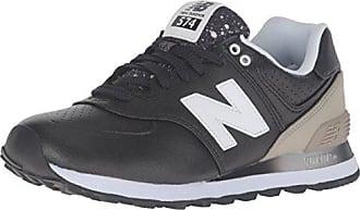 Nero 37.5 EU New Balance 574 Sneaker Donna Black/Grey Scarpe q00
