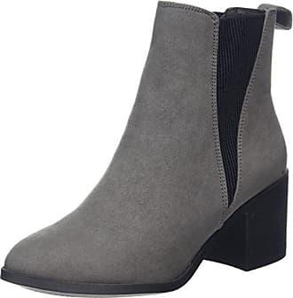 New Look Damen Column Chelsea Boots, Grey (Mid Grey), 37 EU