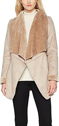 New Look Fur Collar Crombie, Abrigo para Mujer, Negro (Black 01), 40