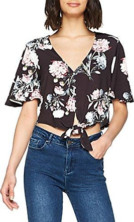 New Look Sequin Floral Mesh, Camiseta de Manga Larga para Mujer, Negro (Black Pattern 9), 38