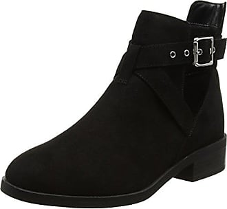 New Look Damen Wide Foot Chrome Stiefel, Schwarz (Schwarz), 38 EU