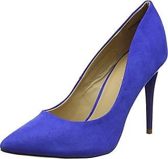 New Look - Zapatos de tacn con Punta Cerrada de Material Sintético Mujer, Color Plateado, Talla 36