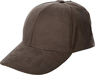Mens Suedette Baseball Cap, Grey (Mid Grey), One Size (Manufacturer Size: 99) New Look