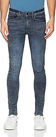 Mens Acid Wash Twist Seam Skinny Jeans New Look