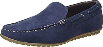 Telek, Mocasines para Hombre, Azul (Navy 100), 45 EU Burton Menswear London