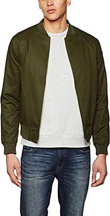 Cotton Twill, Bomber Homme, Vert (Dark Khaki 34), MNew Look