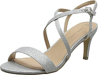 Scarpe col Tacco Punta Chiusa Donna, Argento (Argento (Silver 92)), 36 New Look